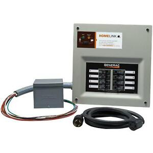 Manual Transfer Switch Kit 30 Amps 240 volt 8 circuits Upgradeable Single Phase
