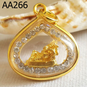 Phra Pikanet Ganesh Necklace Pendant For Success Wealth Amulet Aa266g