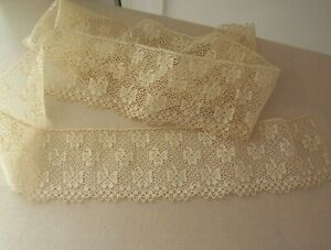 Vtg Antique Victorian Edwardian Wide Trimming Lace Sewing Dolls Ribbons