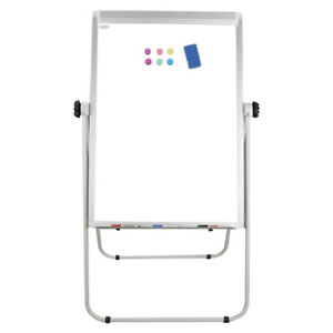 Double Side Magnetic Dry Erase Board Whiteboard 36 X 25 Inches Silver Aluminum