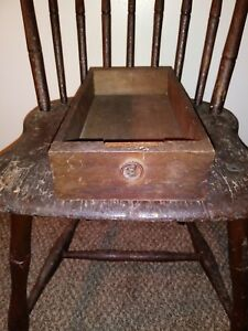 Antique Wooden Dovetailed Chest Desk Drawer Sorting Tray