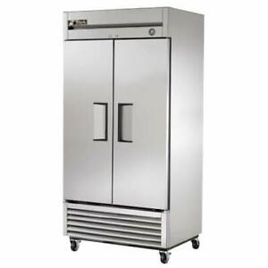 Used True T 35f Two Door Stainless Steel Freezer 35 Cu Ft