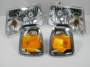 For 2006 2011 Ford Ranger Headlights And Park Turn Signal Lamps With New Bulbs