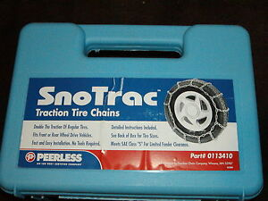 Tire Snow Chains Peerless 0113410 225 45 17 225 50 17 215 40 18 225 40 18