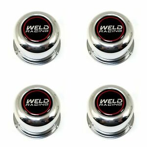 4x Weld Racing Polished 3 Od Push Thru Wheel Center Hub Caps 5 Lug