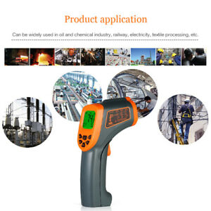 Lcd Digital Non contact Ir Infrared Thermometer Temperature Measurement Flowery