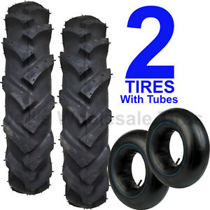 Two New 6 14 6x14 Deep Lug R 1 Tires With Tubes Compact 4wd Farm Tractors