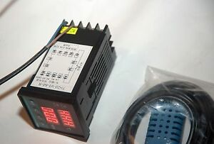 110v 220v Temperature Humidity Moisture Dual Controller Extra 40a Relay