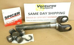 Outer Axle Spindle Stub Shaft With U Joint Chevy Dana 44 Gm 10 Bolt Jeep 44