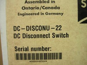 Sma Dc disconu 22 Dc Disconnect Switch 30a For Use With Sma Inverters