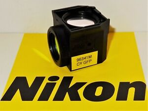 Nikon Cyan Bv Fluorescent Microscope Filter Cube For 50i 80i Te2000 3000