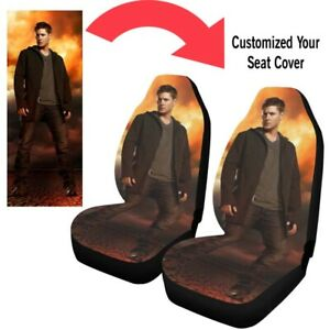 New Custom Seat Covers Personalize Car Seat Covers Protector Printing Set Of 2