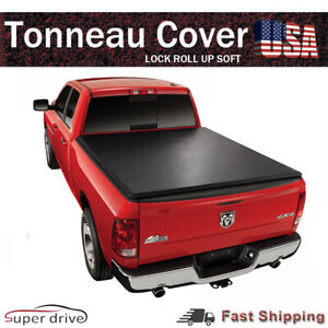 For 2002 2008 Dodge Ram Soft Tonneau Cover Lock Roll Up Style 6 5ft Short Bed