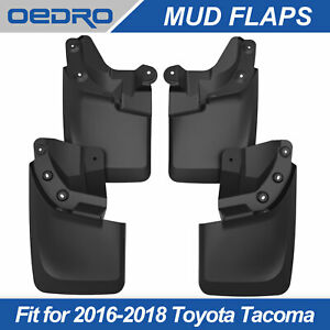 Taoautoparts Heavy Duty Splash Guards Mud Flaps Fit For 16 19 Toyota Tacoma