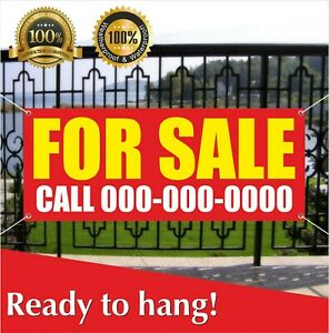 For Sale Banner Vinyl Mesh Banner Sign Call Custom Phone Clearance Discount