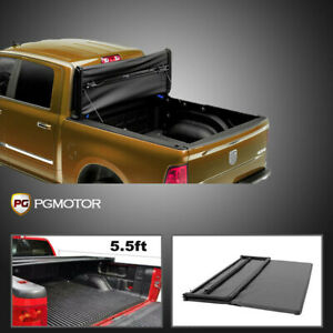 Short Bed Cover Fit For 2014 2018 Ford F 150 5 5 Ft Soft Tri Fold Tonneau