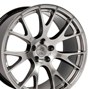 20 Rims Fit Dodge Challenger Charger Chrysler 300 Hellcat Hyper Black 2528 X4