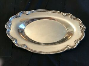 Vintage Remembrance C1948 Silverplate Oval Tray 1847 Rogers Bros International S
