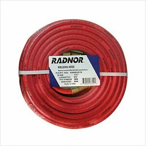 1 4 X 25 Foot Grade Rm Twin Welding Hose With Bb Fittings