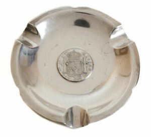 Welsh Peruvian Sterling Silver Coin Mounted Three Cigar Ashtray