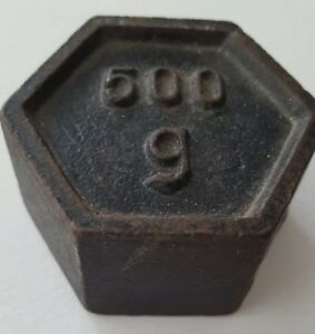 Antique Cast Iron Scale Weight 500 Grams