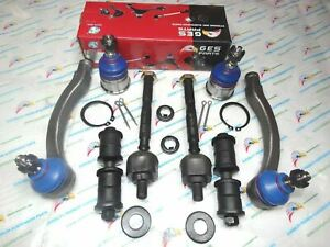 For 96 00 Honda Civic 8pc Lower Ball Joints Tie Rod Ends Sway Bar Links K90123