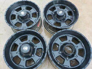 4 Used 17 X 8 Pro Comp Black Alloy Wheels 226s 5 On 5 5 Dodge Ram 1500