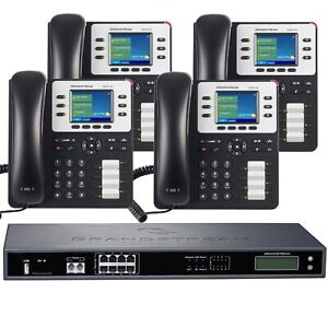 Business Phone System By Grandstream 8 Line Enhanced Package With Ip Phones