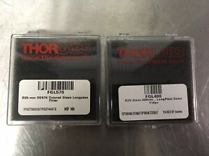 Lot Of 2 Thorlabs Laser Optics Fgl570 Fgl400 One Opened One Sealed Excellent