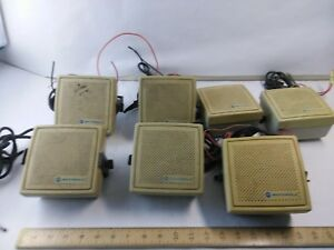 Lot Of 7 Motorola Mobile Radio External Radio Speakers Nsn6027a
