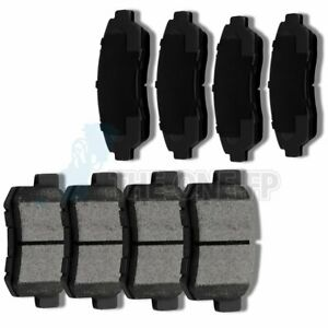 Front And Rear Ceramic Discs Brake Pads Fits 2007 2012 Acura Rdx Performan 8pcs