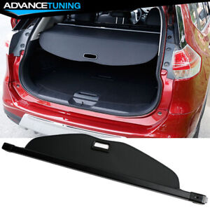 Fits 14 17 Nissan X trail Rogue Rear Trunk Cargo Cover Retractable Black
