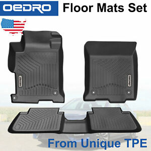 All Weather Floor Mats Liners Fit For 2013 2017 Honda Accord Sedans Unique Tpe