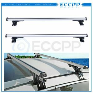 55 Car Universal Top Roof Rack Cross Bar Luggage Cargo Carrier Rails Aluminum