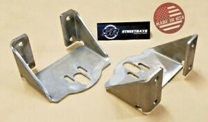 Sr Rear Axle Upper Side Frame Bag Brackets Air Ride Suspension Weld On Pair