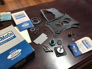 Nos Oem Ford 1963 1964 Galaxie Carburetor Rebuild Kit 1v Fomoco 1100 C3az 9590