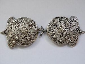 Antique Ottoman Silver Buckle For Belt Jewel Islamic Tugra Very Rare 97 Grams