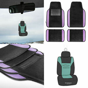 4pc Carpet Floor Mats Universal Fitment For Car Truck Suv Purple W Free Gift