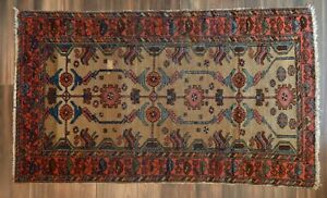 Antique Kurdish Rug Or Short Runner 3 7 X 5 11 Persian Oriental Area Rug