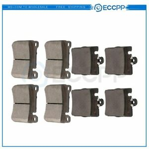 Front And Rear Brake Ceramic Pads For 2005 2007 Mercedes Benz C230 Performance