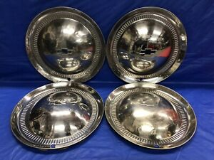 Vintage Set Of 4 1953 Chevrolet 15 Hubcaps Bel Air 210