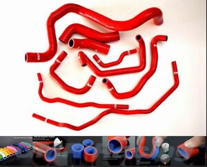 Silicone Coolant Radiator Hose Kit For Volkswagen Vw Golf Gti Mk4 1 8t 00 06 Red