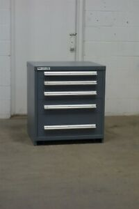 Used Vidmar 5 Drawer Cabinet 33 High Industrial Storage 1659 Equipto