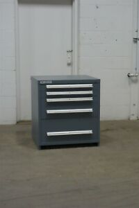 Used Stanley Vidmar 5 Drawer Cabinet 33 High Industrial Storage 1656