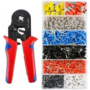 Terminal Crimping Pliers Wire Stripper Crimper 1200 Connector Wire Term 3ye