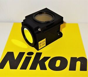 Nikon B 3a Fluorescent Microscope Filter Cube For E400 600 Te200 300