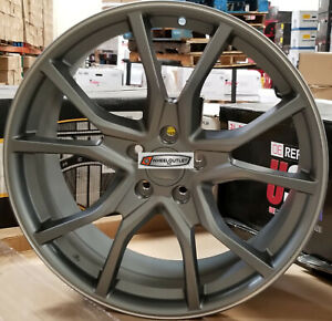 20 Wheels Gunmetal Type R Style Rims Tires Fit Honda Accord Civic Sedan 5 Lug