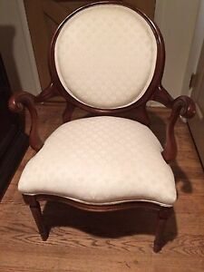 Vintage Balloon Back Antique Arm Chair