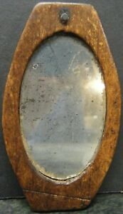 Civil War Era Soldier S Hand Held Camp Shaving Mirror Monogrammed Reverse