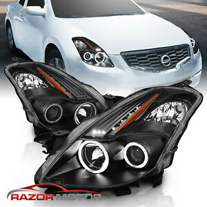 Cdrl Ccfl Halo For 2008 2009 Nissan Altima 2dr Coupe Black Projector Headlights